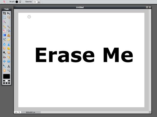 Eraser Tool (Screen 1)
