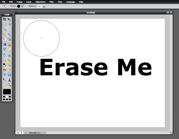 raser Tool (Screen 3)