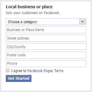 How to create a facebook page (Screen 2)