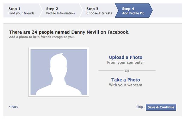 How to create a facebook profile (Screen 5)