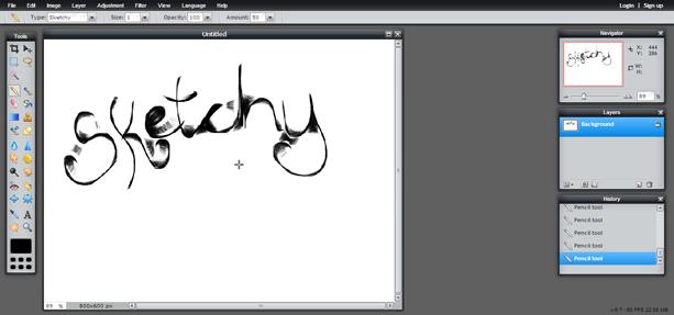 Pencil Tool (Screen 2)