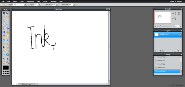 Pencil Tool (Screen 6)