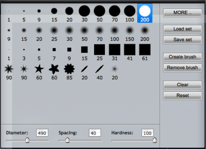 Blur Tool - Brush Size