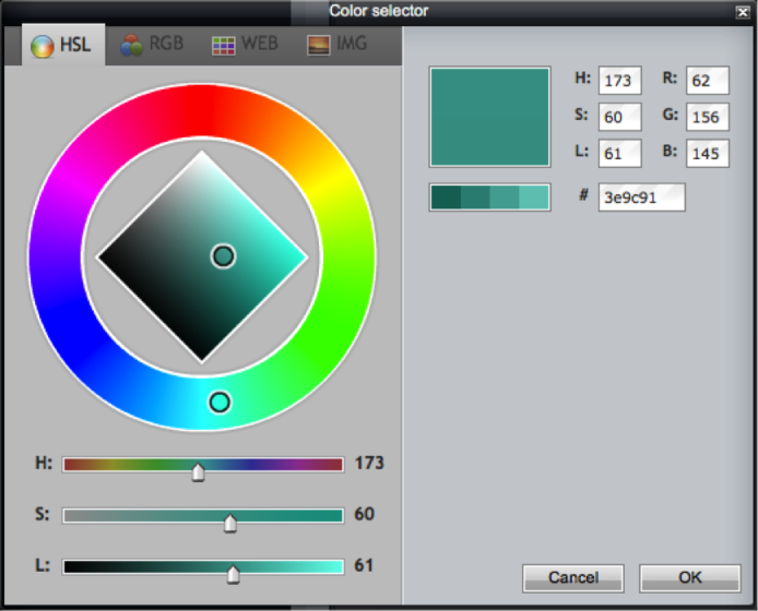 Fill Tool - Colour Selector - Green