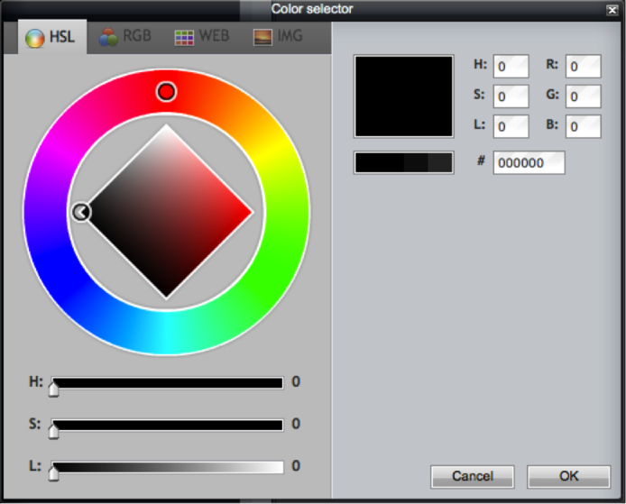 Fill Tool - Large Colour Selector