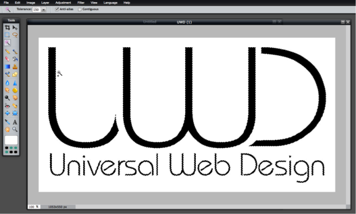 Fill Tool - UWD Logo Selected