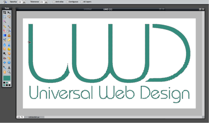 Fill Tool - UWD Logo in Green