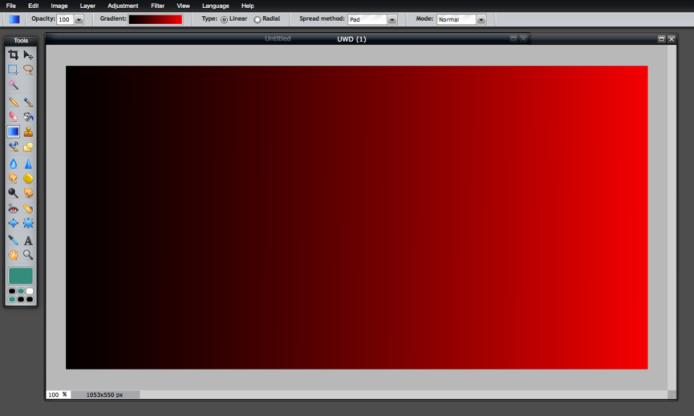 Gradient Tool - Gradient - Black to Red